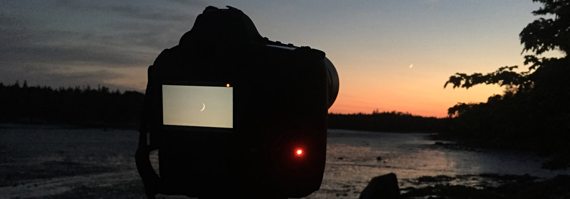 Sunset & Moonset Capture - Deer Isle Maine
